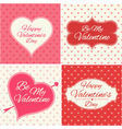 Valentines Day greeting cards set vector image