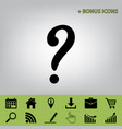 question mark sign  black icon at gray vector image