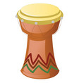 African djembe drum isolated on a white vector image