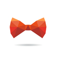 Bow tie abstract isolated on a white backgrounds vector image vector image