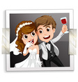 Wedding photo vector image vector image