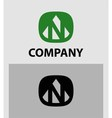 Letter N emblem symbol Creative corporate concept vector image