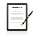 Signing Contract isolated vector image vector image