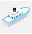 Cruise sea ship isometric 3d icon vector image