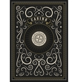 Casino calligraphic vintage poster with roulette vector image