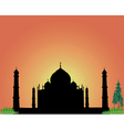 silhouette Taj Mahal vector image