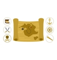 Treasure map flat vector image
