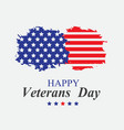 veterans day in america vector image