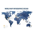 world map infographic business vector image