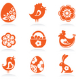 easter icons vector image