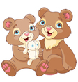 Bear brothers vector image vector image