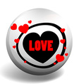Love badge with hearts vector image