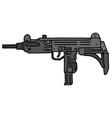Short automatic gun vector image
