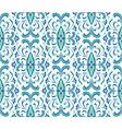 Floral blue ornament vector image