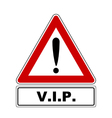 Attention sign with exclamation mark and added vector image
