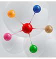 color balls infographic vector image