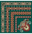 floral vintage frame design set vector image