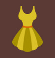 icon in flat design fashion clothes fluffy dress vector image