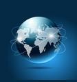 Modern blue globe network vector image
