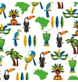 pattern tropical set icons vector image