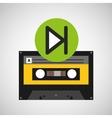 play music cassette tape vector image