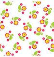 Seamless pattern of flowers and leaves vector image