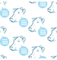 Seamless Pattern with cow vector image