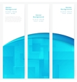 Set of abstract template banner vector image