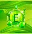 vitamins e chemical formula radiant substances vector image