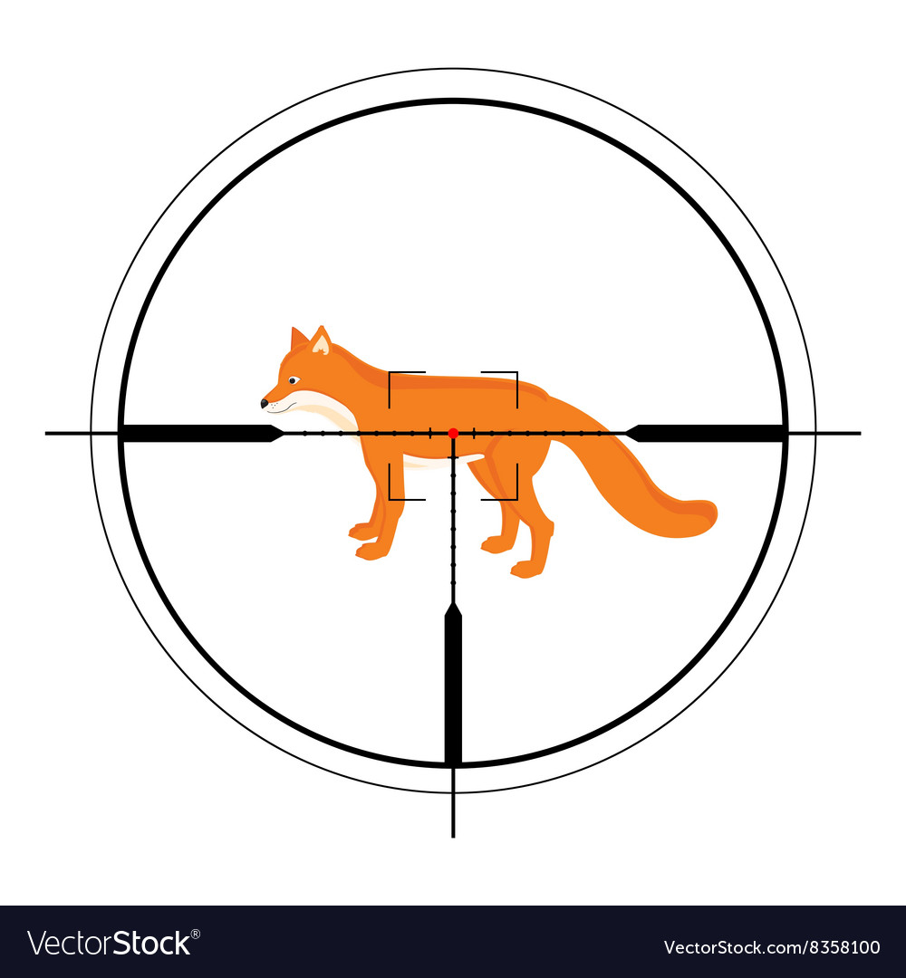 Animal target of hunting vector