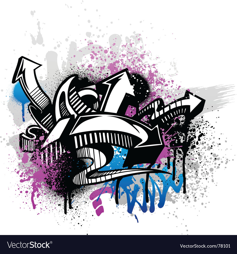 Graffiti background vector