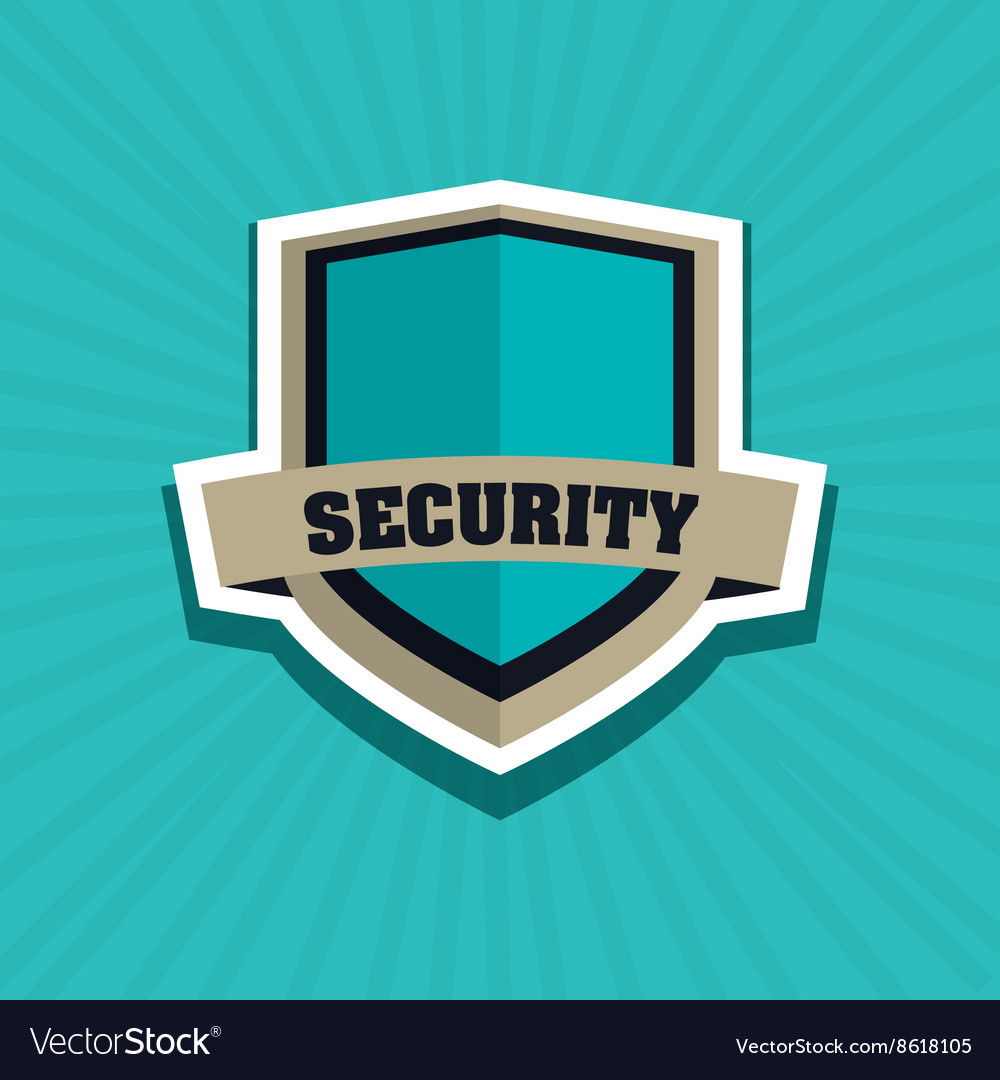 Security system shield concept warning vector