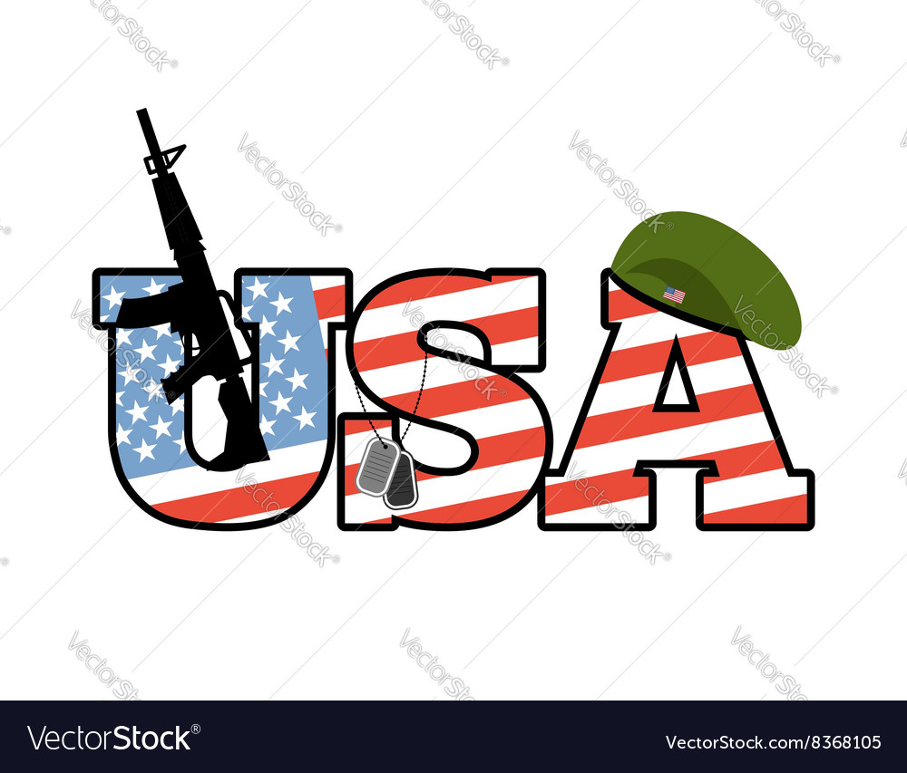Us army emblem flag of united states military vector