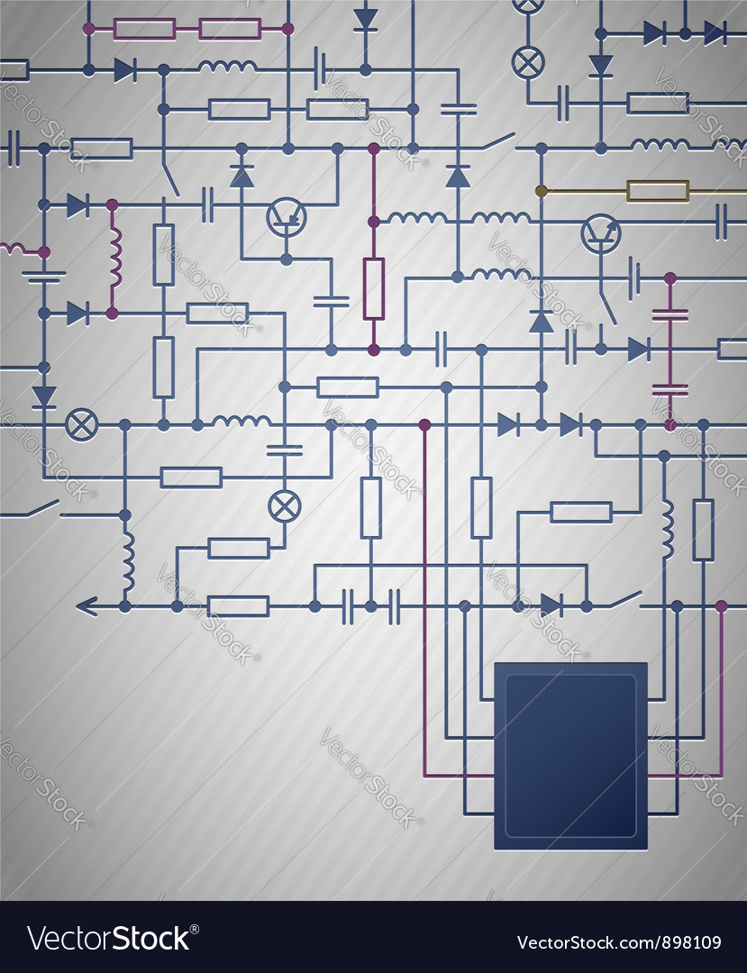 Electrical circuit diagram vector