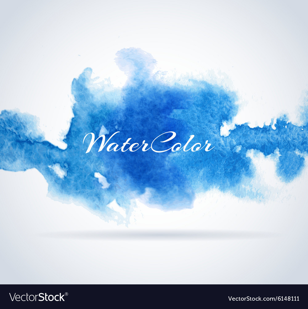 Abstract background with watercolor banner vector