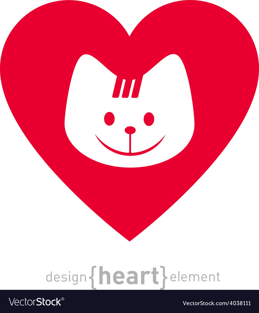 I love my cat icon isolated on white background  vector