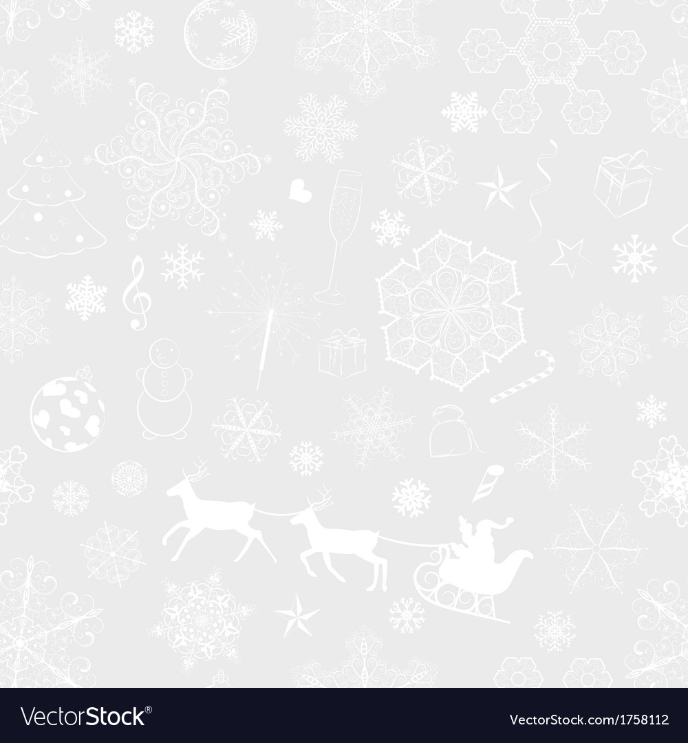 Christmas seamless gray background vector
