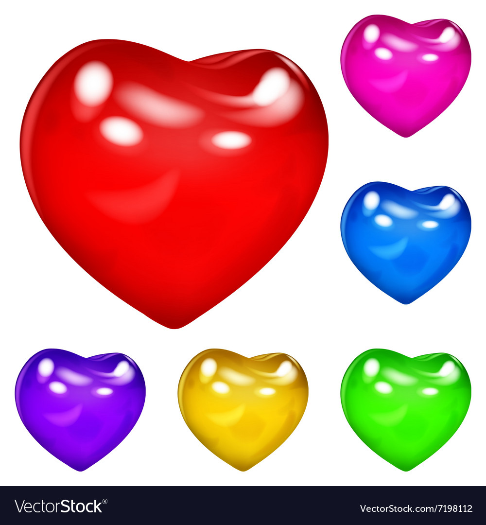 Opaque hearts vector