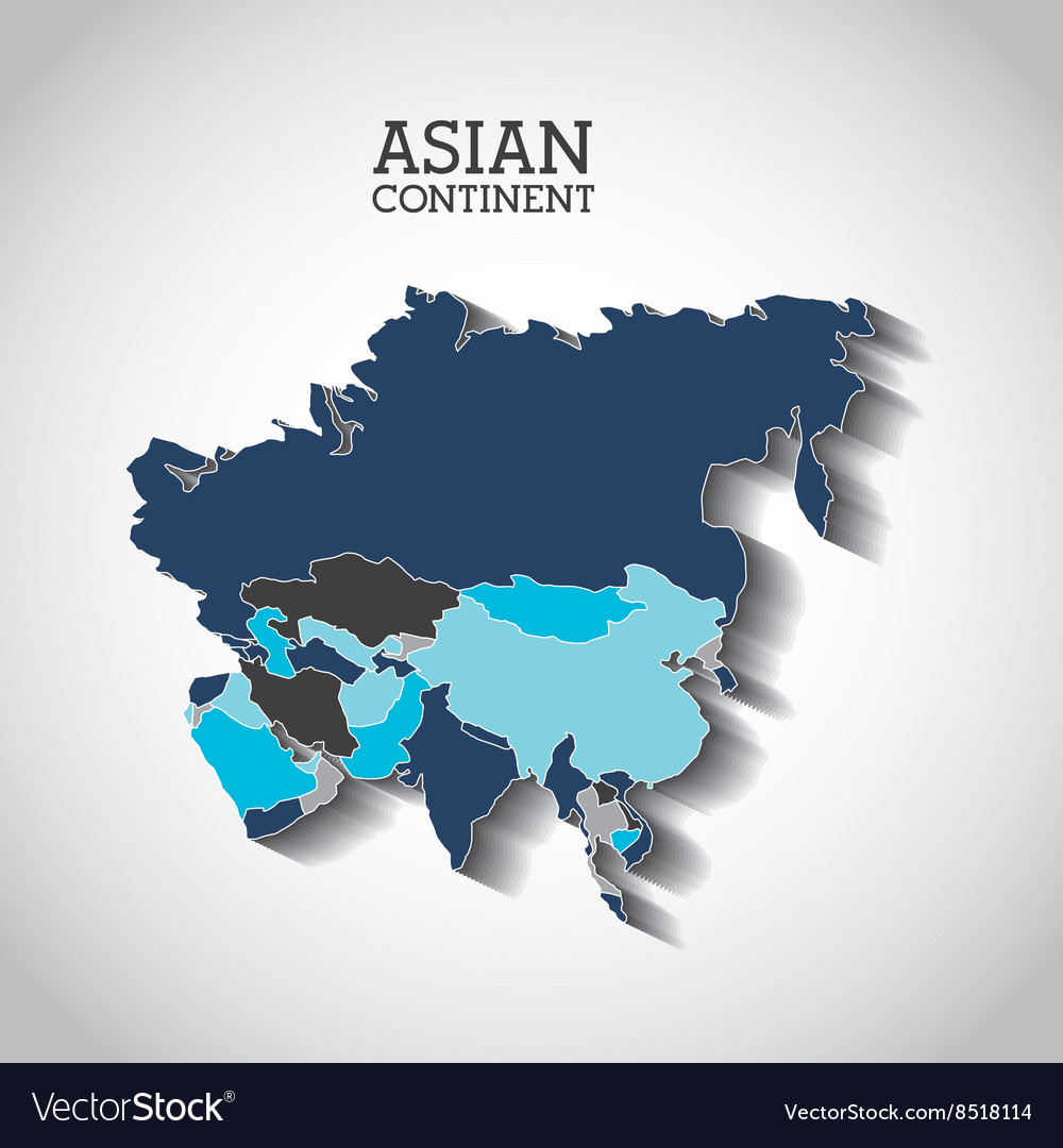 Asian continent design vector