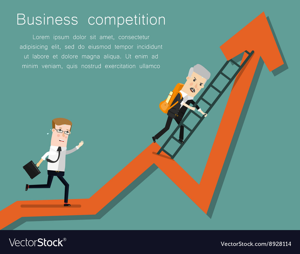Finish line success business concept cartoon vector