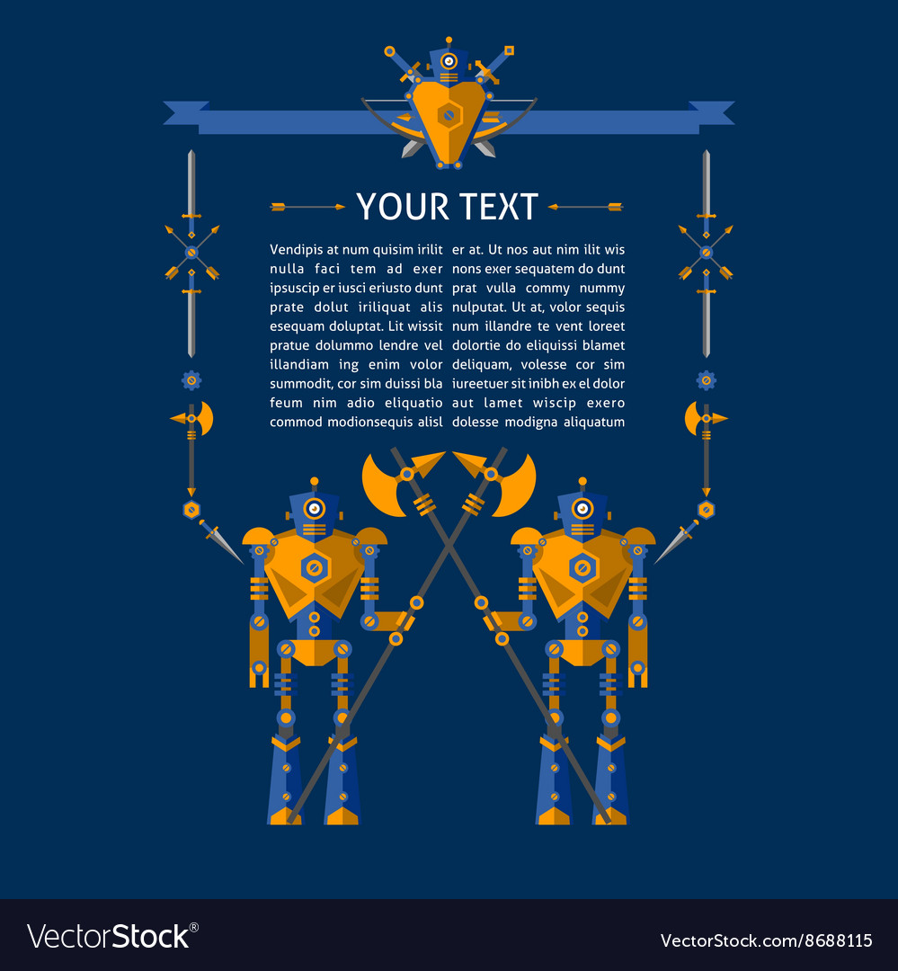 Robot text vector