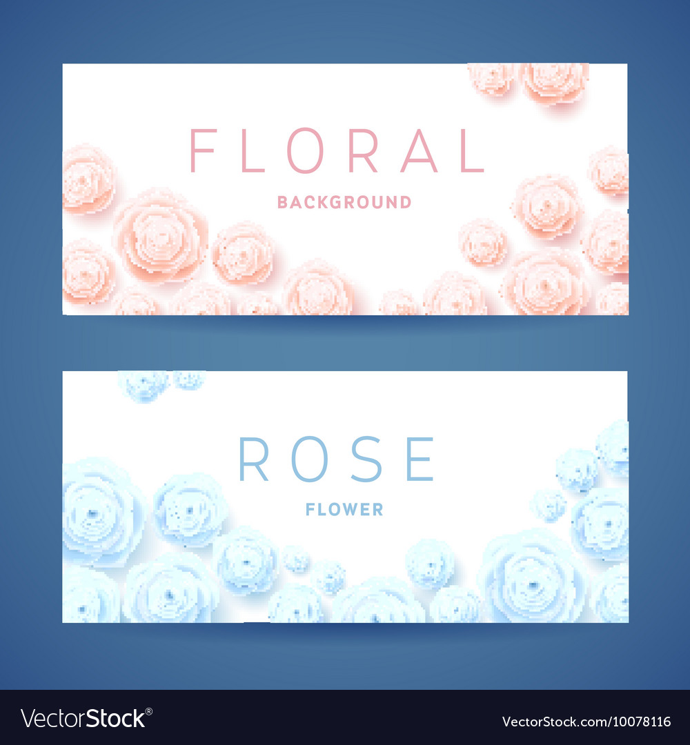 Pastel roses on white background poster vector