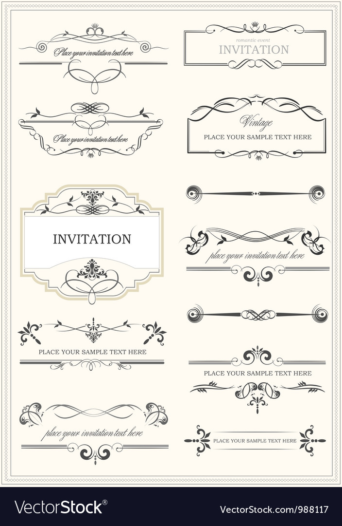 Floral borders and frames vector
