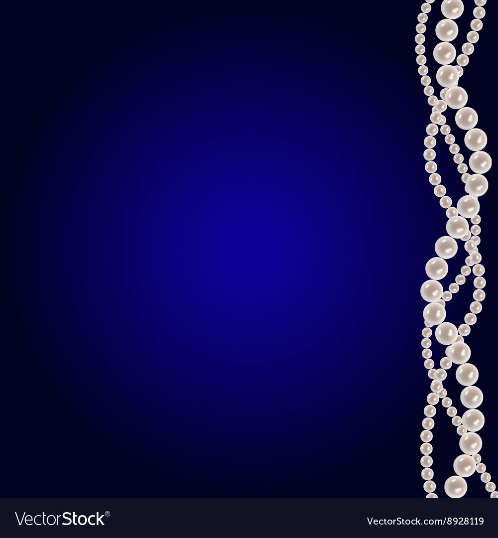 White pearl strings vector