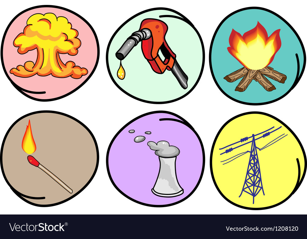 Six forms of energy on round background vector
