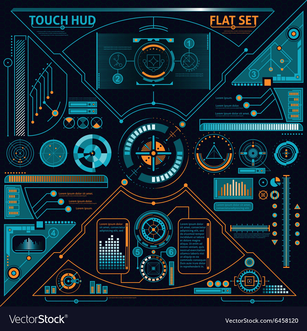 Touch hud set vector