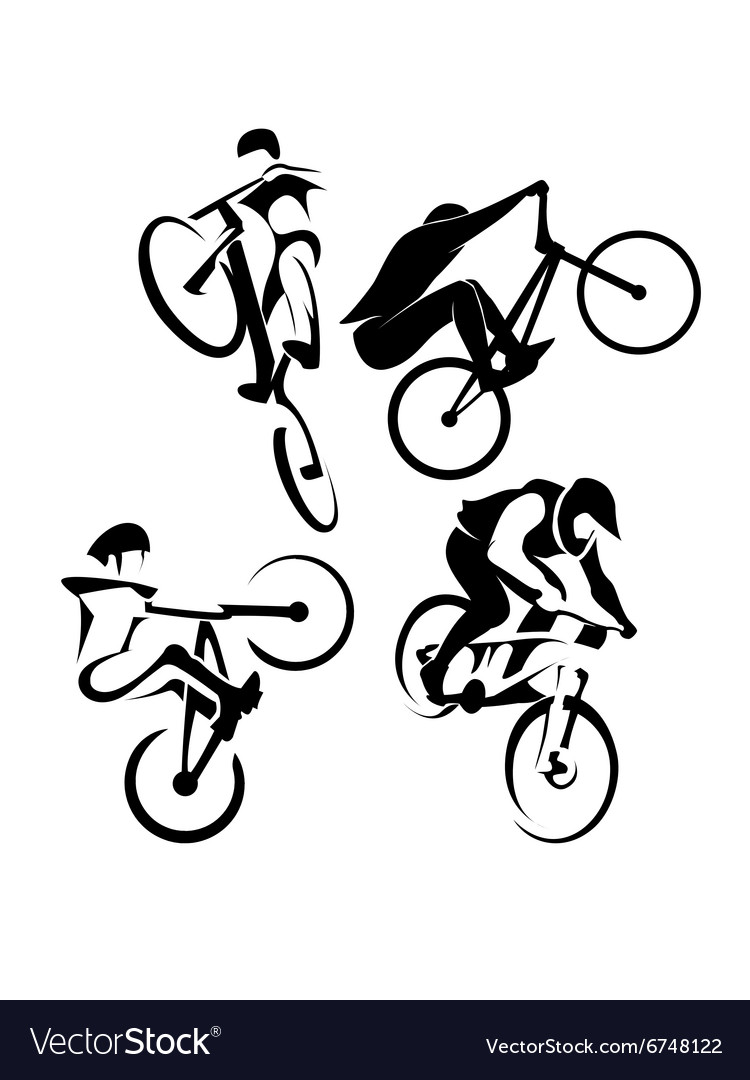 Extreme bicycle sport vector