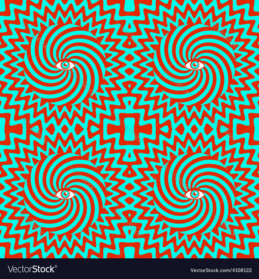 Hypnotic pattern bright vector