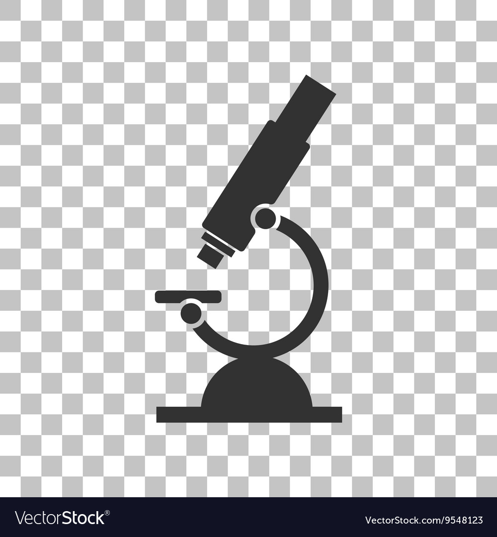 Chemistry microscope sign for laboratory dark vector