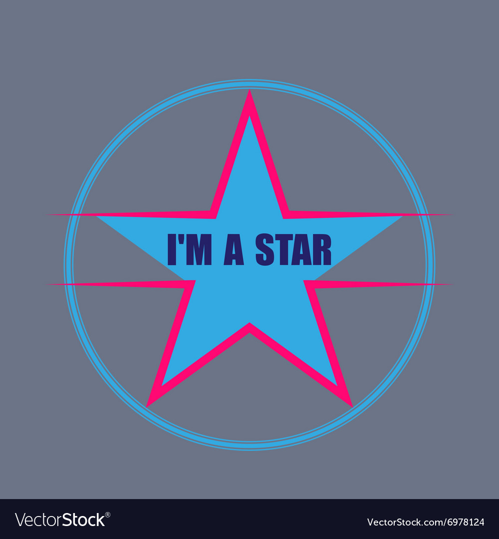 Star typography tshirt graphics vector